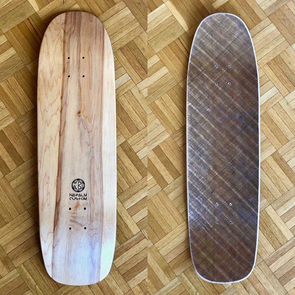 Hemp Reinforced pool skateboard