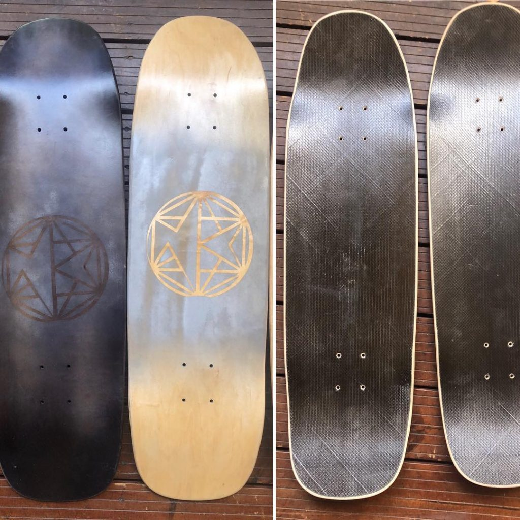 Sabloon painted decks with Napalm Custom logo