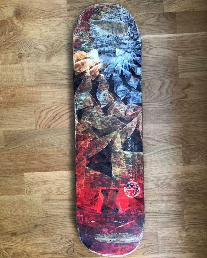 Slick bottom Napalm Custom deck after 2 months of skateboarding