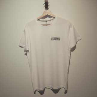 napalm white tee front